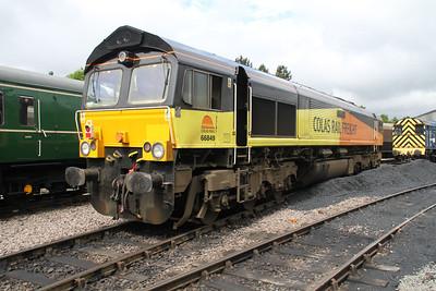 66849 sits at Walsingham in between duties on 24/06/12.