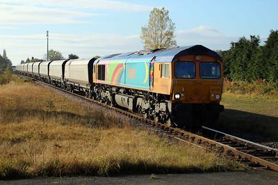 66720 1050/4E95 Didcot-Tyne Yard passes Eaglescliffe 20/10/12.