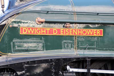 60008 nameplate 'Dwight D Eisenhower'