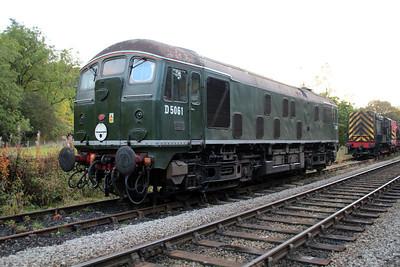D5061 (24061) at Grosmont Sidings  20/10/12.