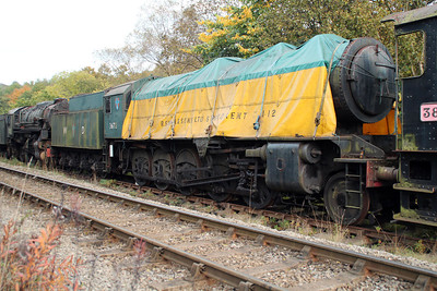 Steam No 3672 at Grosmont Sidings 20/10/12.