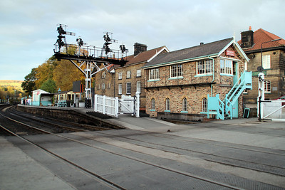Grosmont Station and Signal box  20/10/12.