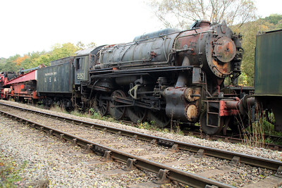 USA Steam No 2253 at Grosmont Sidings 20/10/12.