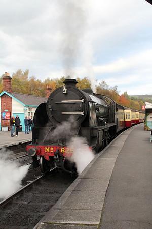 Steam No 825 Grosmont NYMR 20/10/12.
