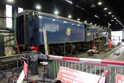 60007 'Sir Nigel Gresley' inside Grosmont MPD Shed  20/10/12.