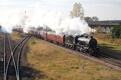 Steam 61994 1152/1z77 Carnforth-Bishops Auckland passes Eaglescliffe 20/10/12.