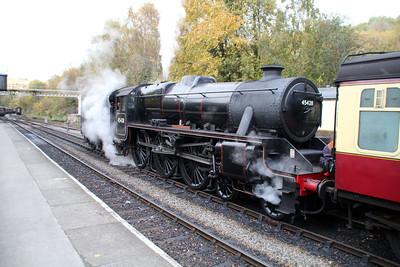 Steam No 45428 'Eric Treacy' at Grosmont NYMR  20/10/12.