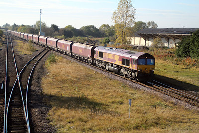 66074 1130/4N08 Drax-Tees Yard passes Eaglescliffe 20/10/12.