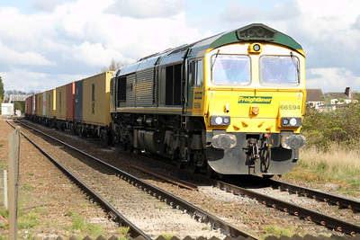 66594 1638/4e49 Ipswich-Scunthorpe passes Norwood Road crossing.