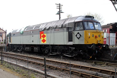 47205 with 395 on the cab front at Northampton and Lamport Railway.