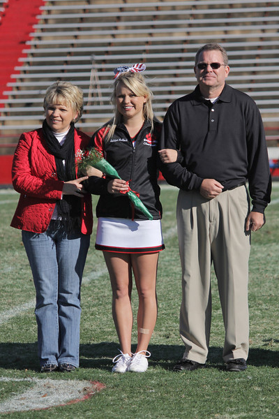 The Gardner-Webb Senior Cheerleaders were recognized during half time. Ashton Malloch