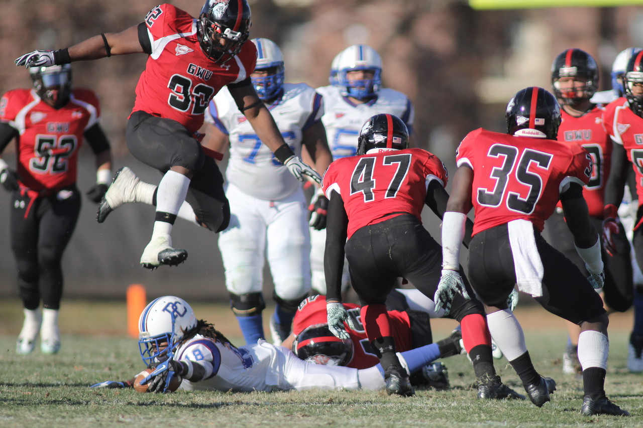 The GWU Runnin' Bulldogs finished their season off with a 21-15 win over Presbyterian College, November 17, 2012, in Spangler Stadium