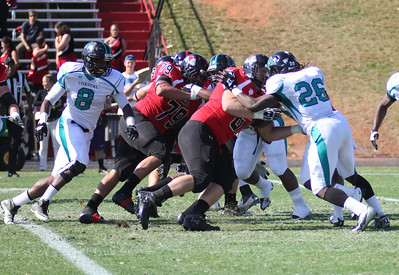 GWU Offense blocks Coastal's defense