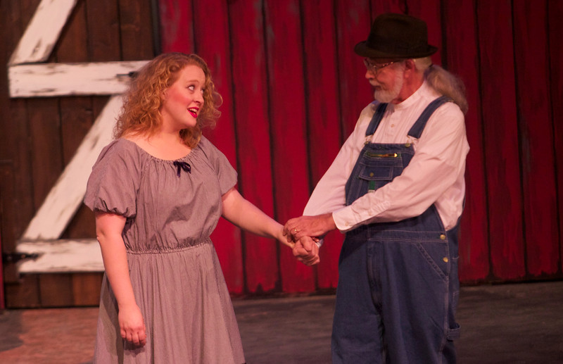 """Students, faculty and community members perform in the opera, """"The Tender Land."""""""
