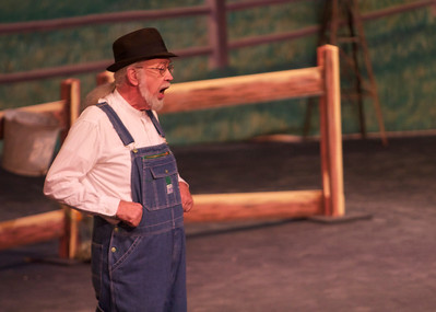 "Students, faculty and community members perform in the opera, ""The Tender Land."""