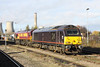 25 November 2012 :: On the stabling point at Didcot is 67005 and 66021