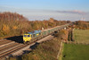 14 November 2012 :: 66547 passing Denchworth with train 6V87 from Crawley to Bristol Barrow Road