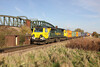 23 November 2012 :: Unusually a Heavy Haul Class 70 on an intermodal.  70005 with 4O51 from Wentloog to Southampton at Worting