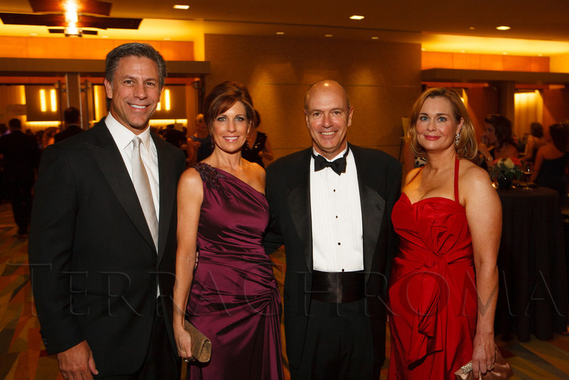 """George and Carol Solich with John and Bridget Grier.  """"Legacy Gala 2012,"""" benefiting Children's Hospital Colorado Foundation, at the Hyatt Regency Denver at the Colorado Convention Center in Denver, Colorado, on Saturday, Nov. 10, 2012.<br /> Photo Steve Peterson"""