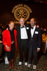 Chuck Froelicher (center, a co-founder of COBS) with his son, Franz (right) and Diane Gates Wallach (daughter of co-founder Charlie Gates).  Colorado Outward Bound School Black Tie and Tennis Shoe Bucket List Gala, celebrating the COBS 50th anniversary, at the Hyatt Regency Denver at the Colorado Convention Center in Denver, Colorado, on Wednesday, Nov. 14, 2012.<br /> Photo Steve Peterson