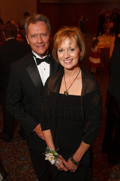 Peter Johnson and Marie Belew Wheatley.  The Sugarplum Ball, benefiting the Colorado Ballet Auxiliary, at the Brown Palace Hotel & Spa in Denver, Colorado, on Friday, Nov. 23, 2012.<br /> Photo Steve Peterson