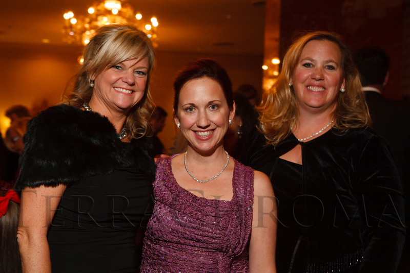 Kristen Corporon, Kristen Miner, and Christy Jordan.  The Sugarplum Ball, benefiting the Colorado Ballet Auxiliary, at the Brown Palace Hotel & Spa in Denver, Colorado, on Friday, Nov. 23, 2012.<br /> Photo Steve Peterson
