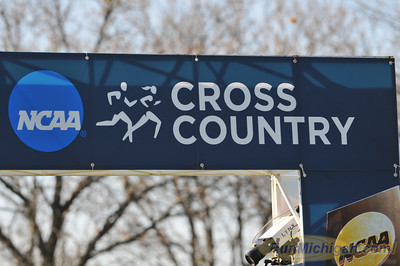 The finish line setup at the 2012 NCAA Division One Cross Country Championships in Louisville, KY. (RunMichigan.com/Dave McCauley)