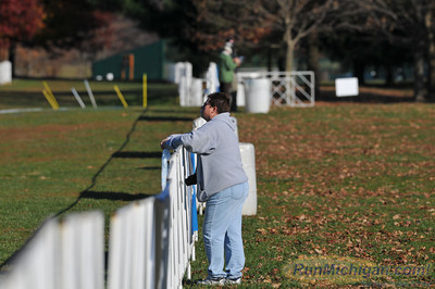 A spectator gets a day before the race look at the course for the 2012 NCAA Division One Cross Country Championships in Louisville, KY. (RunMichigan.com/Dave McCauley)