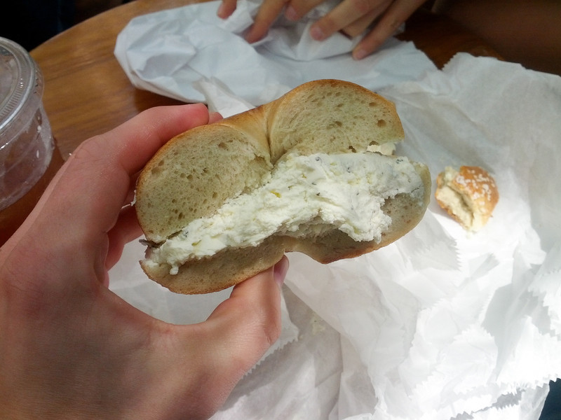 That's a real New York bagel.