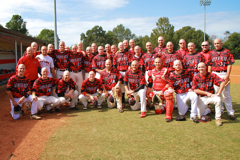 Basebald: The GWU Baseball team shave their heads as a fundraiser for St. Baldrick's, which provides funding for childhood cancer research.