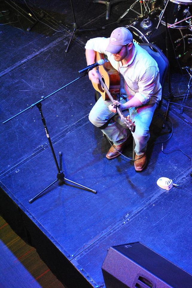Jon Pangston performing at Battle of the Bands.