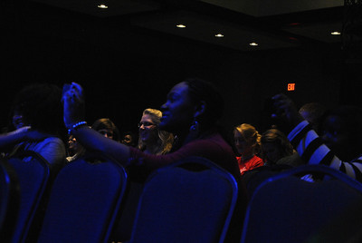 Students watching Battle of the Bands.