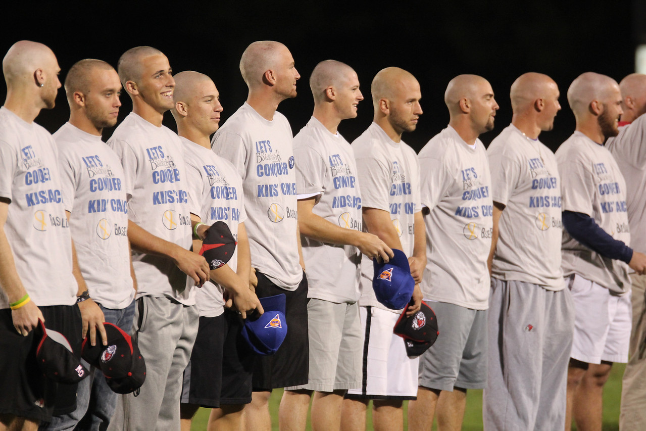 GWU's Baseball team shaves their head for cancer research they raised a total of $7,000.