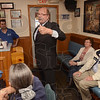 Tribune-Star/Joseph C. Garza<br /> Keep the faith: Indiana Gubernatorial candidate John Gregg encourages his supporters as Election Day draws closer as he departs the Coffee Cup after a brief visit with voters Thursday.