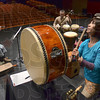 Tribune-Star/Joseph C. Garza<br /> A crescendo of imagined landscapes: Percussionist Ayuko Ikeda and her fellow members of Insho finish a piece during rehearsal Thursday in Hatfield Hall on the Rose-Hulman Institute of Technology campus.