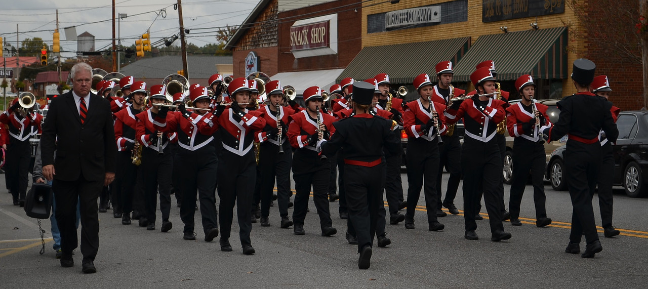 Gardner-Webb's Marching Bulldogs march down Main St.
