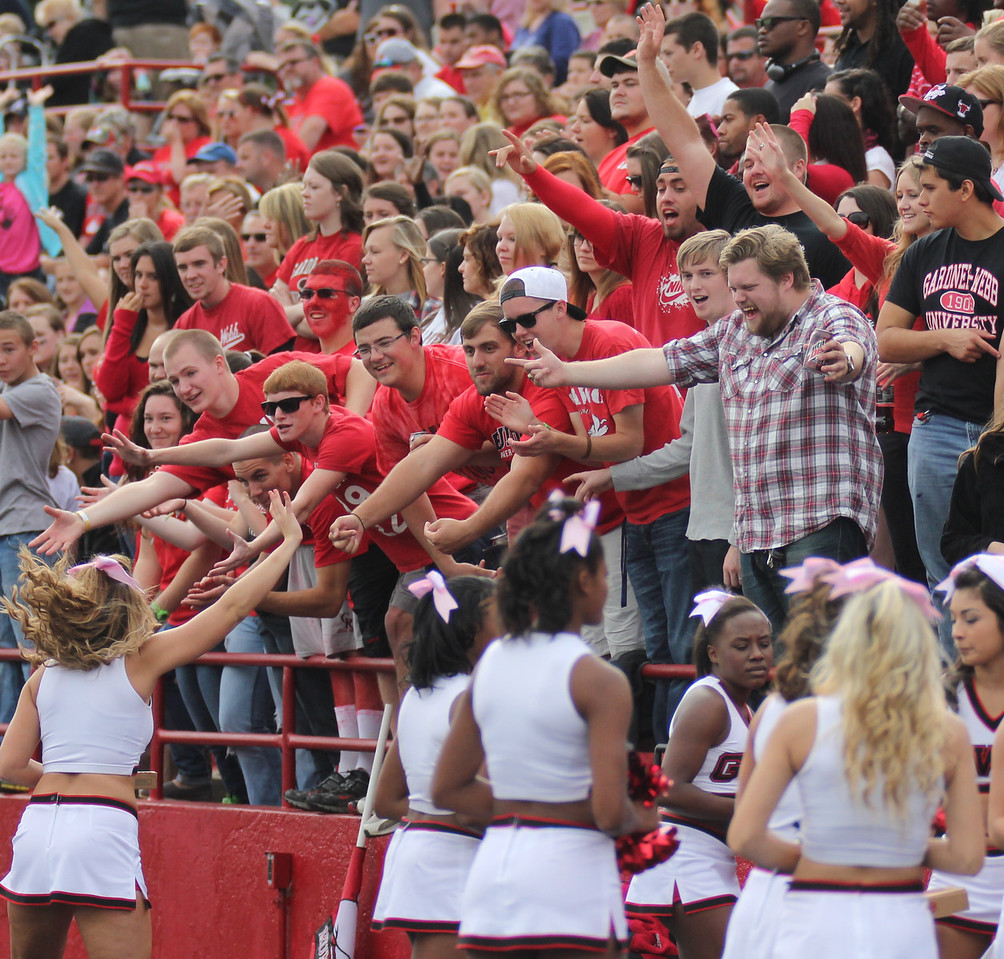 GWU's crowd cheers for a chance to receive free pizza