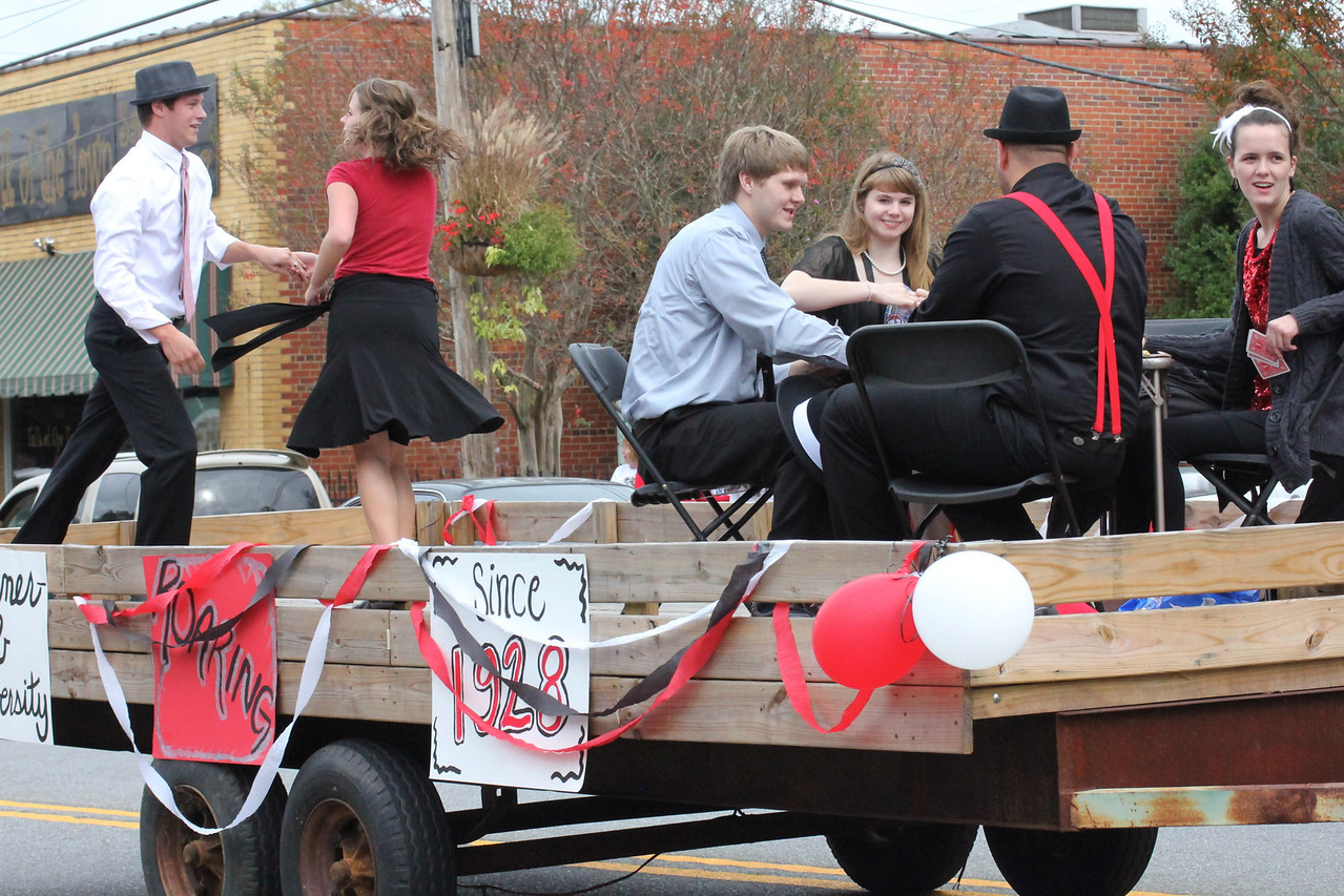 GWU's Homecoming Parade. Paraded down Main Street to get the crowd pumped for the home football game VS VMI