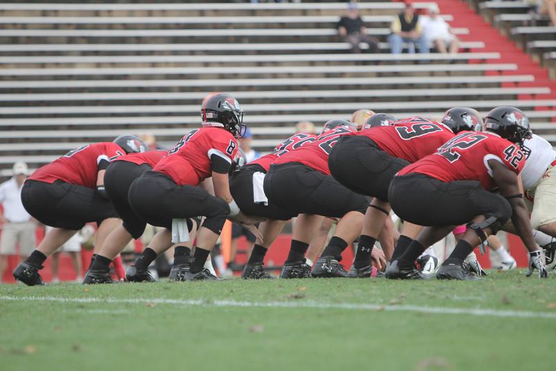 The Runnin' Bulldogs O-line