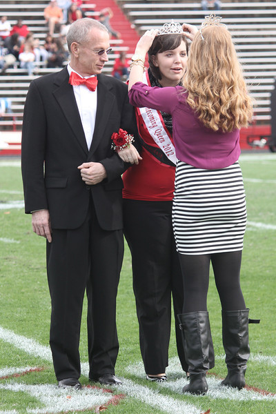 2012-2013 Homecoming Queen, Sara Phillips. Crowned by 2011-2012 Homecoming Queen Jordan Love