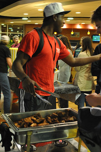 Student's participate in the activities at the Homecoming Carnival.
