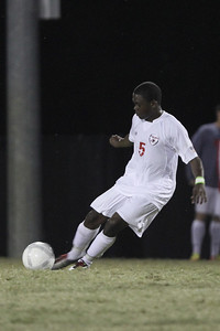 Lyssean Thomas (5) prepares to kick the ball