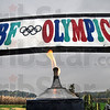 Torch: The CBF Olympic Torch burns as the games take place over Saturday and Sunday in Parke County.
