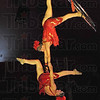 Aerial: Veronica and Natalia perform during Sunday's final performance of the 75th Annual Shrine Circus.