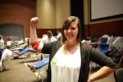SGA blood drive at Gardner-Webb; Hope Hall, Fall 2012