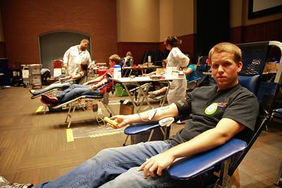 SGA blood drive at Gardner-Webb; Hope Hall, Fall 2012