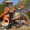 Tribune-Star/Joseph C. Garza<br /> Fun under construction: A new playground at Prairie Creek Park is taking shape as part of renovations at the park in southern Vigo County.