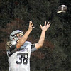 Close: Northview's #38 Daniel Kimball looks to an incoming ball during game action Friday against West Vigo. The ball bounced of the fingers of Kimball for an incompletion.