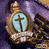 Tribune-Star/Joseph C. Garza<br /> Class of '55: This pendant is part of Katie (Budd) Sappington's diploma when she graduated from Saint Joseph School in 1955.