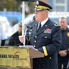 Tribune-Star/Jim Avelis<br /> Thank you: Major General R. Martin Umbarger, Adjutant General Indiana National Guard was the featured speaker at the re-dedication ceremony of Terre Haute's Viet Nam memorial.